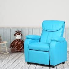 Costway Kid Recliner Sofa Armrest Chair Couch Children Living Room Furniture Home Blue Walmart Com Walmart Com