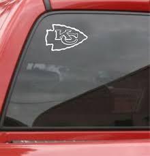 Set Of 2 Kansas City Chiefs Vinyl Car Truck Decal Window Sticker Ebay