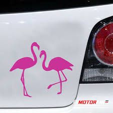 Pink Flamingo Vinyl Window Decal 5 Free Usa Ship Many Colors Laptop Car Collectibles Transportation