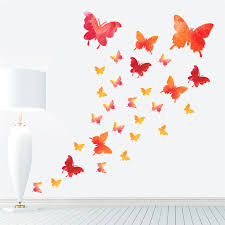 Flying Butterfly Wall Stickers For Kids Rooms Diy Beautiful Nursery Room Decor Red Flowers Wall Decals Poster Mural Home Decor Wall Graphics Stickers Wall Graphics Vinyl From Youlovehome 2 24 Dhgate Com