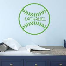 Personalized Baseball Vinyl Wall Decal Vinyl Decor Wall Decal Customvinyldecor Com