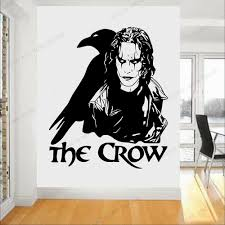 The Crow Gothic Wall Decal Movie Brandon Lee Legend Wall Sticker Vinyl Removabe Boys Bedroom Decoration Design Wallpaper Rb 140 Wall Stickers Aliexpress