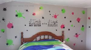 I Smile Because You Re My Sister Girls Wall Decal Quote