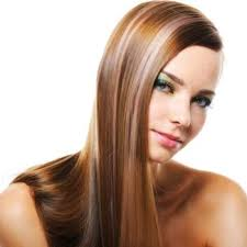 hair color rebonding smoothing