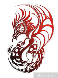 Red Dragon Wall Mural Pixers We Live To Change
