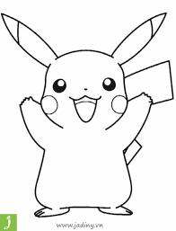Bộ tranh tô màu pikachu hấp dẫn các bé nhất hiện nay - Jadiny