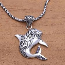 sterling silver and amethyst dolphin