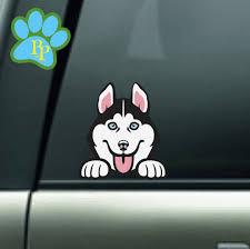Husky Peeking Car Decal Husky Dog Decal Husky Decals For Dog Etsy Dog Decals Husky Dogs Vinyl Decals