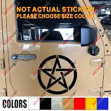 Multi Size Pentagram Wiccan Wicca Pagan Star Car Sticker Decal Bumper Car Stickers Decals Star Car Stickercar Bumper Aliexpress
