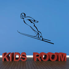 Skiing Wall Decal Vinyl Decal Car Decal Sm024