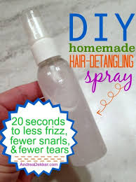 diy homemade hair detangling spray