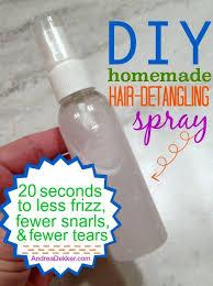 diy homemade hair detangling spray