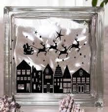 Christmas Neighborhood Vinyl Decal For Glass Block Ebay