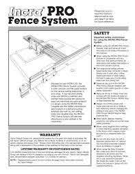 Incra Pro Joinery Fence