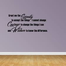 Wall Decal Quote Grant Me The Serenity To Accept The Things I Cannot Change Sticker Room Decor Jp486 Walmart Com Walmart Com