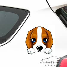 14cm 14cm Dog Beagle Reflective Lovely Car Stickers Creative Decoration Decals For Trunk Windshield Auto Tuning Styling D15 Car Sticker Car Sticker Dogstickers Dog Aliexpress