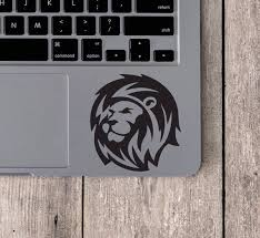 Lion Vinyl Decal Lion Laptop Decal Lion Bumper Sticker Lion Etsy