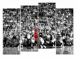 Hd Giclee Canvas Prints Wall Art Michael Jordan Jump Shot Utah Jazz Nba For Living Room Bedroom Home Office Etc Painting Calligraphy Aliexpress