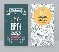 Birthday Party Invitation Stock Vector C Ghouliirina 71927663