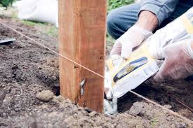 How To Set A Fence Post Fence Post Installation Diy Dunn Diy