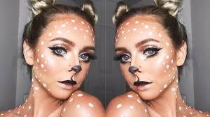 cute and easy deer makeup look you