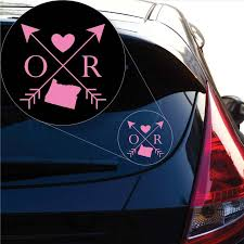 Oregon Love Cross Arrow State Or Decal Sticker For Car Window Laptop Yoonek Graphics