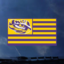 Lsu Tiger Nation Flag Auto Decal Tiger People Clothiers