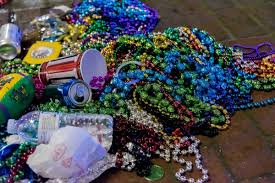 what happens to mardi gras beads after