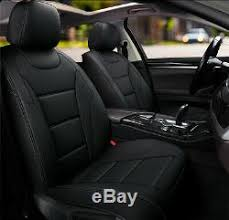 360 black leather car seat covers for