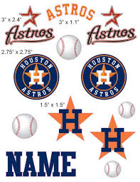 Houston Astros Cranial Band Decoration From High Quality Vinyl