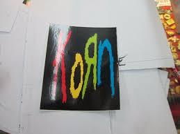 Korn Sticker Collectible Rare Vintage 90 S Metal Live W