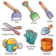 garden tools stock vector ilration