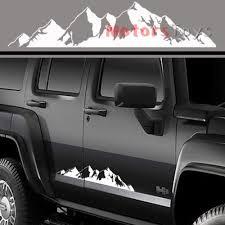 76x16cm Car Truck Self Adhesive Waterproof Black White Mountain Range Sticker Vinyl Decals Graphics For Jeep Wish