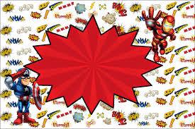 Super Heroes Marvel Invitaciones Cumpleanos Invitaciones De