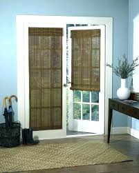 bamboo blinds for french doors and side