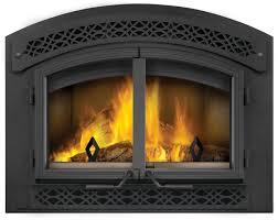 wood burning fireplace doors burner