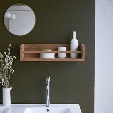 teak bathroom shelves storage furniture