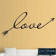 Wall Stickers Love Arrow Bedroom Family Quote Art Decals Vinyl Home Room Decor Ebay