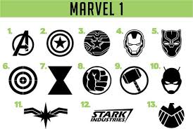 Marvel Vinyl Decals Etsy