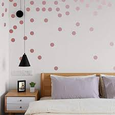 Mst Metallic Rose Gold Wallpops 2 0inch X 200 Decals Stickers Removable Wall Decal Dot Decor Wantitall