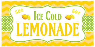 Amazon.com: Ice Cold Lemonade Stand Sign Personalized Banner: Handmade