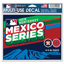 Houston Astros Vs Los Angeles Angels Wincraft 2019 Mlb Mexico Series 4 X 6 Multi Use Car Decal