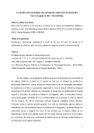 PDF) Enseñanza y aprendizaje colaborativo a través de las tics. Un caso de  estudio en el profesorado de historia a partir del tema: rebeliones  indígenas durante el período colonial. | Pablo Cansanello,