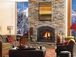 granite stone wall gas fireplace repair