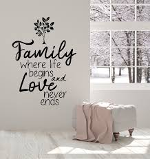 Vinyl Wall Decal Family Love Inspiring Quote Tree Home Decor Stickers Wallstickers4you