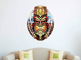 Amazon Com Gt Graphics Tiki Mask 20 Wall Decal Large Vinyl Sticker Home Kitchen