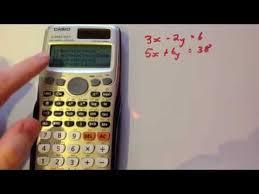 simultaneous equations casio fx 991es