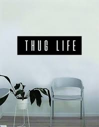 Tupac Thug Life Rectangle Wall Decal Decor Decoration Vinyl Etsy