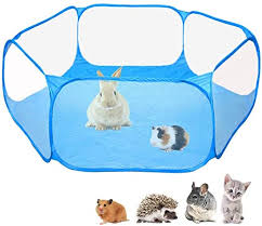 Amazon Com Amakunft Small Animals C C Cage Tent Breathable Transparent Pet Playpen Pop Open Outdoor Indoor Exercise Fence Portable Yard Fence For Guinea Pig Rabbits Hamster Chinchillas And Hedgehogs Pet Supplies