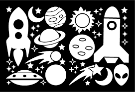 Rockets Planets Decals Kid S Bedroom Stickers Whimsi Decals Whimsidecals